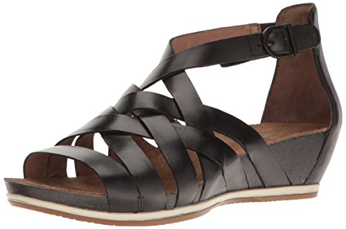 Image of the Dansko Women's Vivian Gladiator Sandal, Graphite Vintage Pull Up, 39 EU/8.5-9 M US