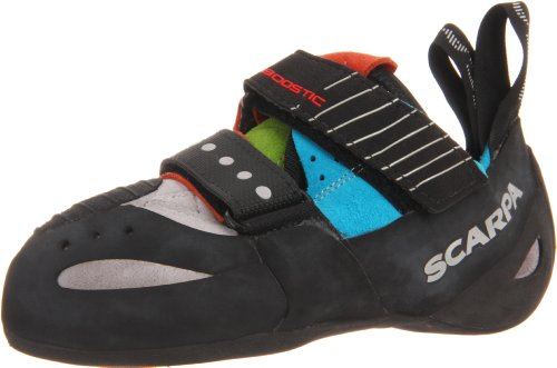 Image of the Scarpa Boostic Climbing Shoe,Cyan/Spring,43 EU/Men's 10 M US/Women's 11 M US