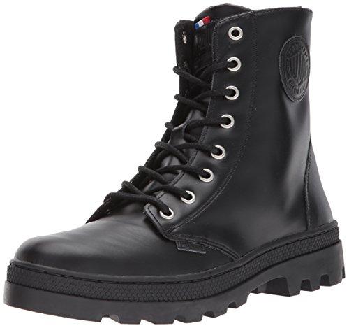 Image of the Palladium Women's Pallabosse Off Lea Chukka Boot, Black, 10 M US
