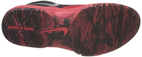 Image of the Nike Mens Air Max Emergent Unvrsty Rd/Mtllc Slvr/Blk Brgh Basketball Shoe 11...