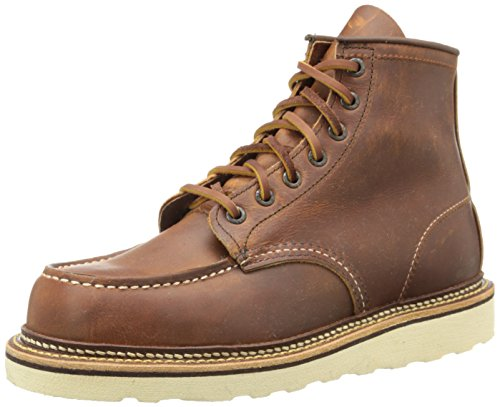 Image of the Red Wing Heritage Men's Classic 1907 6-Inch Moc Toe Boot,Copper Rough & Tough,9.5 D US