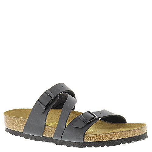 Image of the Birkenstock Women's Salina Black Birko-Flor Sandal 38 R (US Women's 7-7.5)