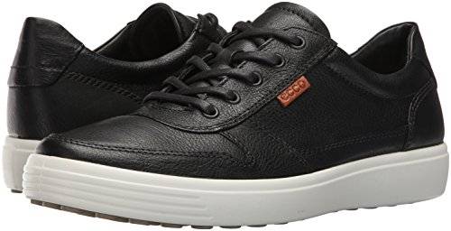 Image of the ECCO Men's Soft 7 Retro Fashion Sneaker, Black/Lion, 44 EU/10-10.5 M US