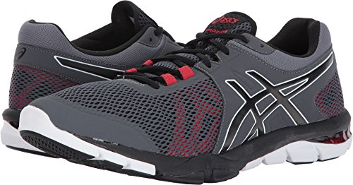 Image of the ASICS Men's Gel-Craze TR 4 Cross Trainer, Carbon/Black/Prime Red, 11 Medium US