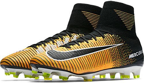 Image of the NIKE Men's Mercurial Superfly FG Soccer Cleat (SZ. 9) Laser Orange, Black