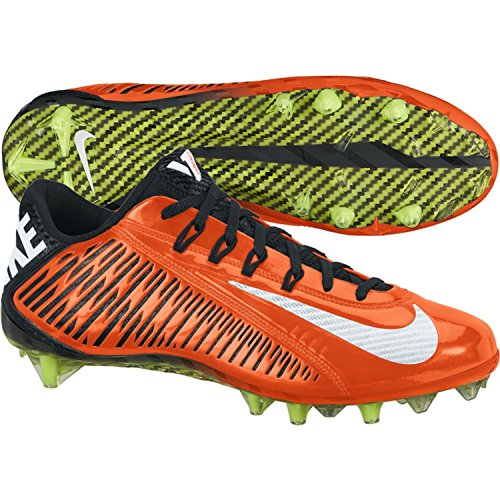 Image of the Nike Vapor Carbon Elite TD Football Cleats Shoes Orange Black Mens Size 13