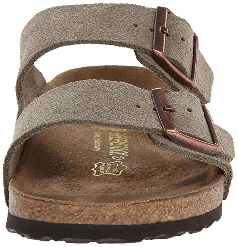 Image of the Birkenstock Unisex Arizona Sandal,Taupe Suede,40 M EU
