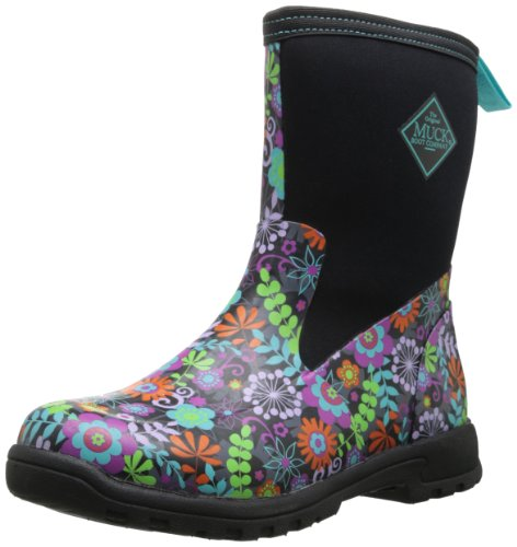 Image of the MuckBoots Women's Breezy Mid Boot,Black/Floral,8 M US