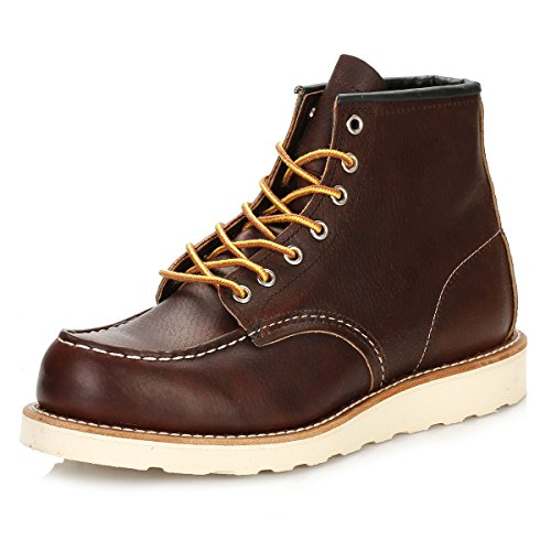 Image of the Red Wing Heritage Men's Classic Work 6-Inch Moc Toe Boot,Brown,9 D US