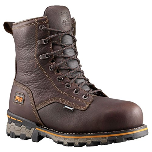 Image of the Timberland PRO Men's 8 inch Boondock Comp Toe Waterproof INS Boot, Brown, 13 M US