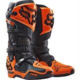 Image of the Fox Racing Instinct Men's Off-Road Motorcycle Boots - Black/Orange / Size 9