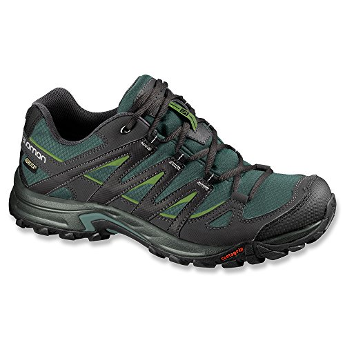 Image of the Salomon Men's Eskape GTX Hiking Shoe,Titanium/Black/Dark Turf Green,8 M US