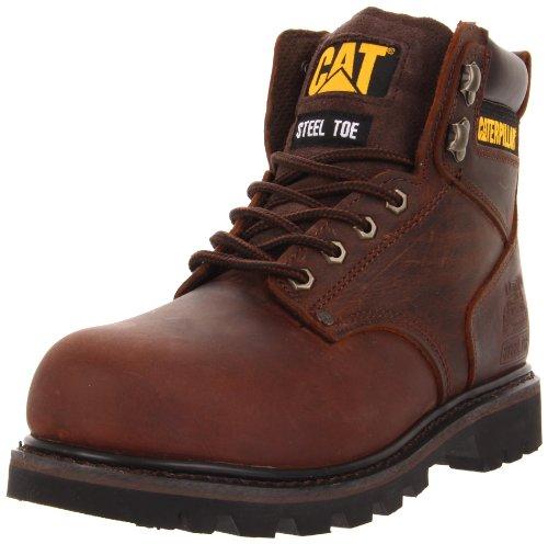 Image of the Caterpillar Men's Second Shift Steel Toe Work Boot,Dark Brown,10.5 M US