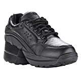 Image of the Z-CoiL Pain Relief Footwear Women's Legend Rugged Outsole Enclosed Coil Black Leather Tennis Shoe 7 C/D US