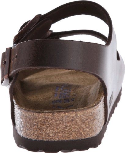 Image of the Birkenstock Unisex Milano SFB Flat,Brown Amalfi Leather,39 EU/8-8.5 M US