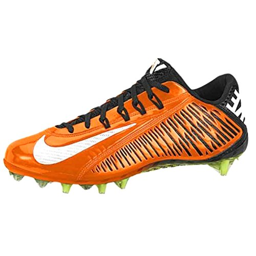 Image of the Nike Vapor Carbon Elite TD Football Cleats Shoes Orange Black Mens Size 13