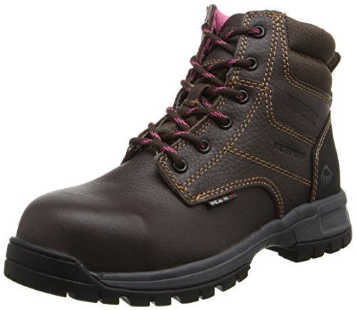 Image of the Wolverine Women's W10180 Piper Safety Toe Work Boot, Brown, 10 M US