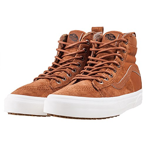 1678f6b68fed2c Image of the Vans Unisex SK8-Hi 46 MTE DX Glazed Ginger Flannel Sneaker