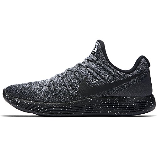new styles 250bc 706b4 Image of the Nike Lunarepic Low Flyknit Black Men s Running Training Shoes  Size 13