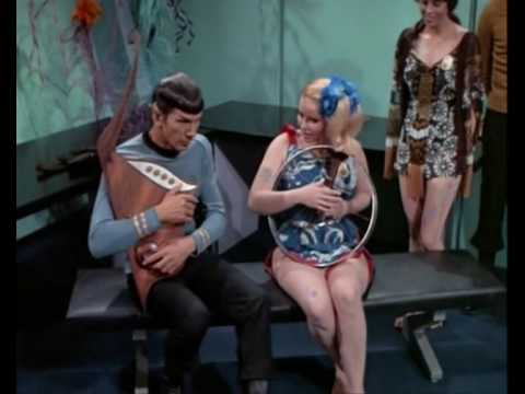 image from the star trek episode where Mr. Spock encounters space hippies